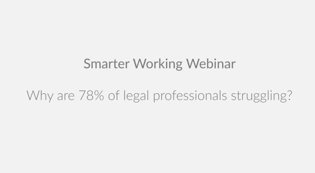 Why are 78% of Lawyers Struggling to be Productive?