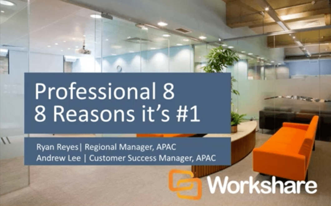 8 Reasons why Professional 8 is Number 1 for Legal